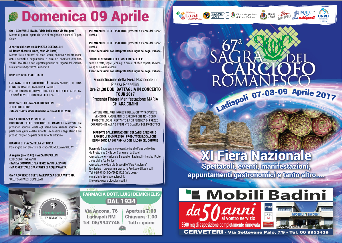 sagra carciofo romanesco ladispoli 2017