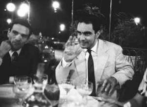 Italo Calvino e Pier Paolo Pasolini al caffè Rosati di piazza del Popolo Italo Calvino e Pier Paolo Pasolini al caffè Rosati di piazza del Popolo