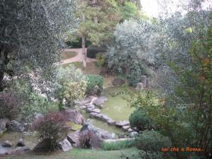 Il giardino dell'Istituto Giapponese di Cultura a Roma