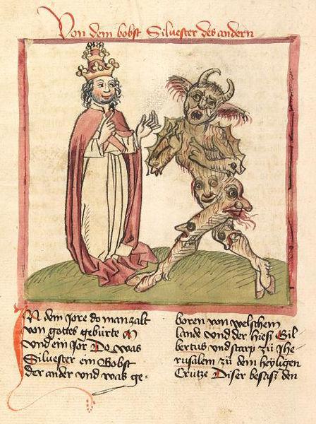 Silvestro-II-Cod.-Pal.-germ.-137-Folio-216v-Martinus-Oppaviensis-Chronicon-pontificum-et-imperatorum