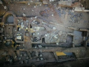 Resti archeologici in via del Tritone. Foto da roma.corriere.it
