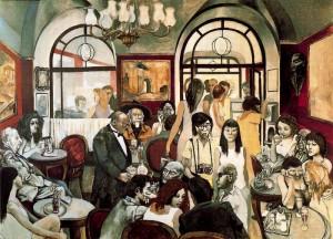 Renato Guttuso - Caffè Greco (1975) - Madrid, Museo Thyssen-Bornemisza