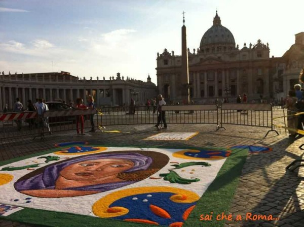 infiorata roma san pietro