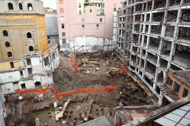 Cantiere archeologico Rinascente - Via del Tritone
