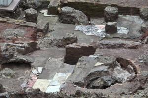 resti archeologici via del Tritone - Rinascente