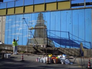 GRAArt, Maupal - Obelisco nasone work in progress