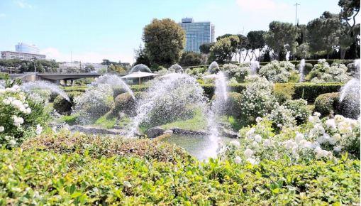 Giardino delle Cascate all'Eur