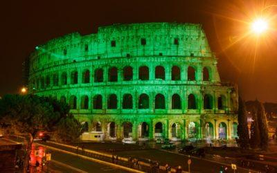 Colosseo in verde per San Patrizio – 17 marzo